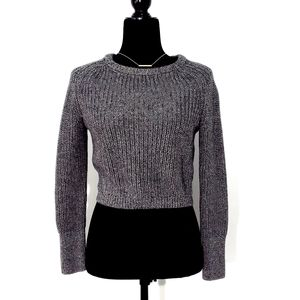 ❤ American Apparel Cropped Gray Sweater size small